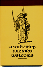 Wandering Wizards Welcome (By Appointment) - Click to view larger image.